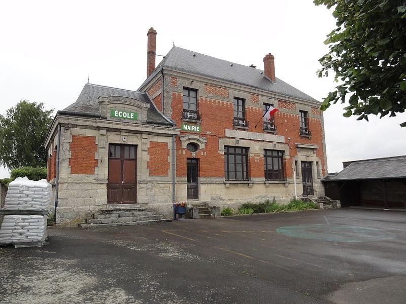 Clamecy (Aisne) mairie-école
