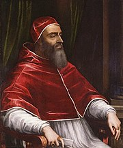 """Giulio di Giuliano de' Medici, Pope Clement VII. By Sebastiano del Piombo, c.1531. Clement called Catherine's betrothal to Henry of Orléans """"the greatest match in the world""""."""