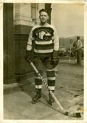 Cleveland Indians (ice hockey) - A player for the Cleveland Indians in 1929.