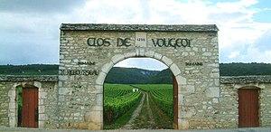 Clos de Vougeot - One of the gates of the wall surrounding Clos de Vougeot