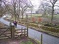 Clough Brook Footbridge and Clough House - geograph.org.uk - 749931.jpg