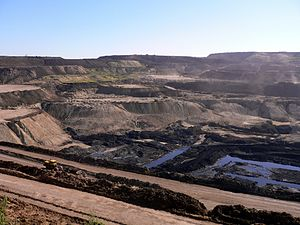 Energy policy of China - A coal mine near Hailar, Inner Mongolia