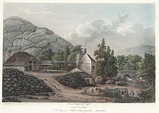 Coal works: a view near Neath in Glamorganshire, south Wales