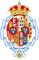 Coat of arms of Maria Mercedes of Bourbon-Two Sicilies, Countess of Barcelona after her husband renounce as Pretender to the Spanish Throne.svg