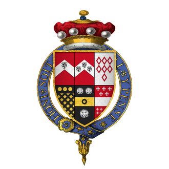 George Brooke, 9th Baron Cobham - Arms of Sir George Brooke, 9th Baron Cobham, KG