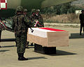 Coffin of a fallen KFOR soldier from Poland.JPEG