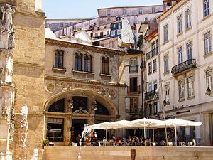 Santa Cruz (Coimbra) - The Café Santa Cruz, in the centre of town, offering an example of the economic activity of the tourist quarter