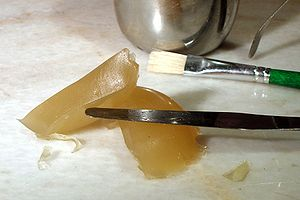 Animal glue - Hide glue at room temperature