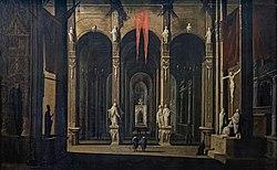 Collection Motais de Narbonne - Intérieur de l'église des santi Severino e Sossio à Naples - François de Nomé.jpg