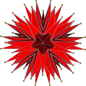 Final stellation of the icosahedron - Image: Complete icosahedron ortho stella