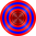 Concentric circles drawn with Bresenham's circle algorithm.png