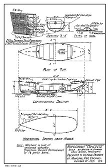 Concrete ship wikipedia the free encyclopedia for Ferrocement house plans