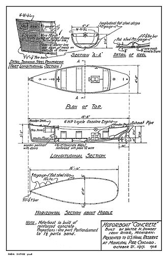 Concrete ship - Blueprints for a concrete boat