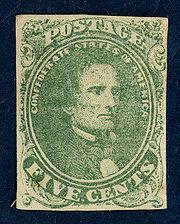 Confederate 5cent stamp