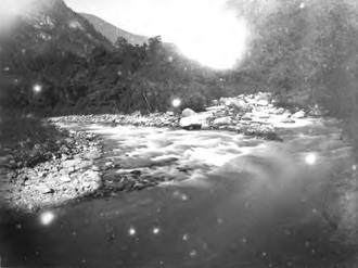 Lachung River - Confluence of the Lachen and Lachung Rivers c. 1885