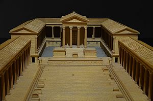 Conímbriga - A maquette of the conceived layout of the forum at Conímbriga