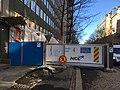 Construction site obstructing sidewalk (42263028132).jpg