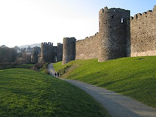 Conwy town walls Grade I listed building in Conwy County Borough.