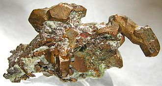 Houghton County, Michigan - Old specimen of native copper from Houghton County. Houghton County hosted a major copper-mining industry in the late 19th and early 20th centuries.