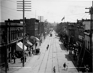 History of Vancouver - Cordova Street, looking east from Cambie Street (circa 1890s).