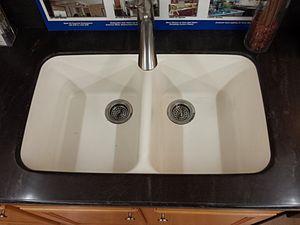 Corian - Integrated Corian sink