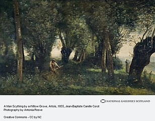 A Man Scything by a Willow Grove, Artois