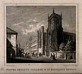 Corpus Christi College and St. Botolph's Church, Cambridge. Lin Wellcome V0014098.jpg