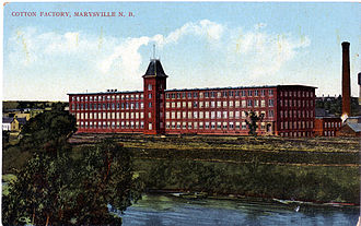 Alexander Gibson (industrialist) - A postcard view of the cotton mill in the early 1900s