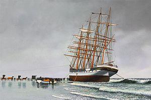 Point Pleasant Beach, New Jersey - County of Edinburgh stranded on the beach, February 12–14, 1900.