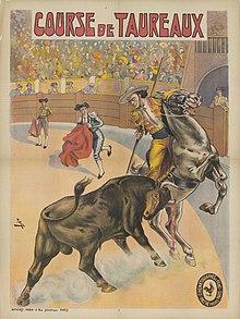 a7ab9e25dbc Poster by Cândido de Faria for the silent film Course de taureaux à Séville  (1907