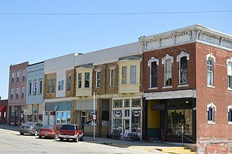 Mount Pulaski, Illinois - Businesses on Cooke Street downtown