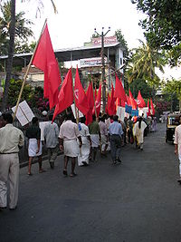 A Left Democratic Front rally in Kerala.
