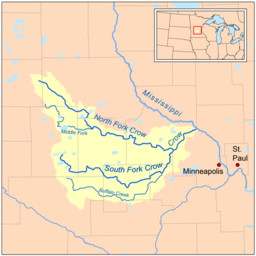 Crow River Minnesota Wikipedia - Minnesota rivers map