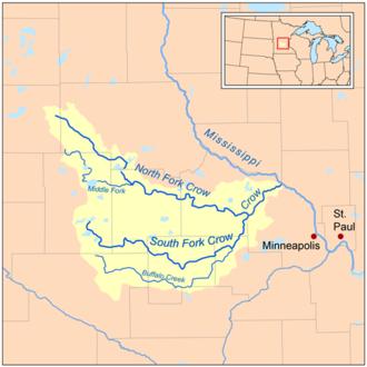 Crow River (Minnesota) - Image: Crow mnrivermap