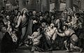 Crowds gather as Christ heals the sick. Engraving by T. Phil Wellcome V0034932.jpg