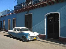 A so-called 'yank tank', one of the many remaining U.S.-made cars in Cuba, imported prior to the United States embargo against Cuba.