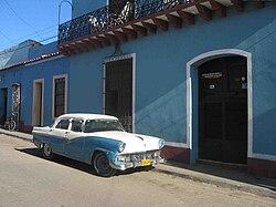 Carro antigo em Havana.