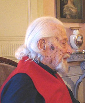 Hugues Cuénod - Cuénod photographed on 22 February 2010, aged 107, at his home Le Chateau de Lully in Vaud, Switzerland