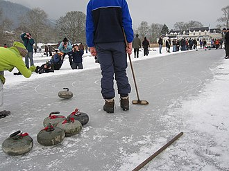 Lake of Menteith - Curling on Lake of Menteith