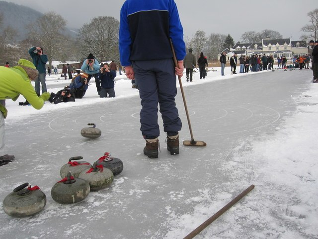 Curling on Lake of Menteith - geograph.org.uk - 1756810