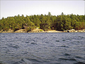 D'Arcy Island - D'Arcy Island from the west by kayak.