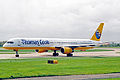 D-ABOM 1 B757-330 Thomas Cook Germany(Condor) MAN 03MAY04 (11364984905).jpg