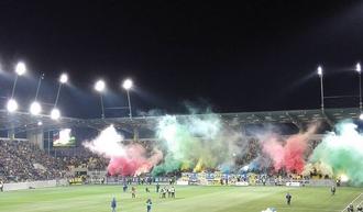 FC DAC 1904 Dunajská Streda - DAC fans in match against AS Trenčín, on 19 november 2016