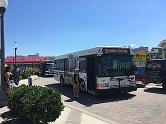DART First State Sussex County bus routes - DART First State bus 314 in Rehoboth Beach on the Route 201 line
