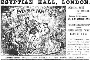 Egyptian Hall - Advertisement for Arcana at the Egyptian Hall, in 1888