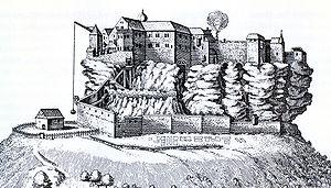 County of Dagsburg - Dagsburg Castle (1663)