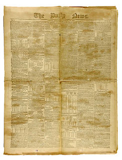 <i>The Daily News</i> (UK) national daily newspaper in the United Kingdom (1846-1930)