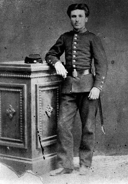 Danglis as a first-year cadet, 1870.