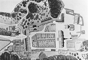 Danviken Hospital - Map of Danviken Hospital in 1848.