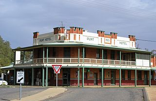 Darlington Point Town in New South Wales, Australia